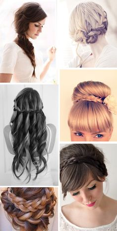 i think either the top right or the second one down on the left. but i'd want some sort of puff in the front so it's not flat on my head if i choose the second one!