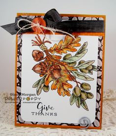 Olive and Oak Expanded stamp set by Power Poppy, card design by Stacy Morgan.