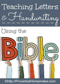 Teaching Letters and Handwriting Using the Bible