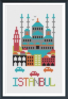 Istanbul Cross Stitch Chart Instant Download