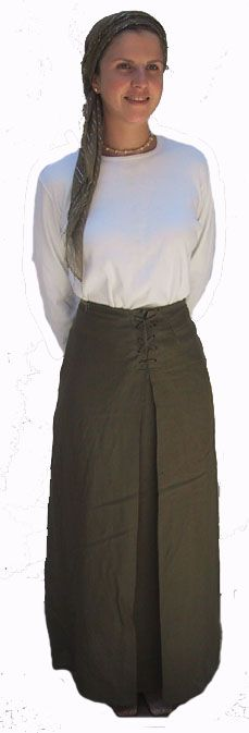 Lace Up Skirt with Pleat - $39