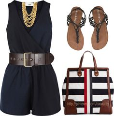 """Mackintosh Tote & Navy Jumper"" by casuality on Polyvore"