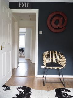 The makeover process for the Seasons in Colour black and white home office as seen on the Abigail Ahern blog, Apartment Therapy and more. Home office ideas