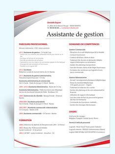 Modèle CV original Assistante de Gestion
