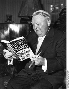 Ludwig Erhard (CDU), 1963-1966.  http://de.wikipedia.org/wiki/Ludwig_Erhard