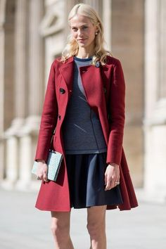 Click for 10 stylish ways to wear the color red this season, including outfits you can totally wear to work