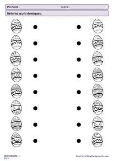 Mathematical activities for Easter - Preschool-Kindergarten Preschool Learning Activities, Preschool Printables, Easter Activities, Preschool Worksheets, Preschool Kindergarten, Preschool Activities, Handwriting Worksheets For Kids, Easter Worksheets, Teacher Hacks