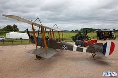 WWI Royal Aircraft Factory B.E.2 replica. Shuttleworth LAA Party in the Park & Airshow, 15 June 2014, Old Warden.