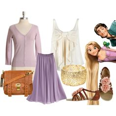 Tangled Inspired Outfit, created by doodle-heart on Polyvore