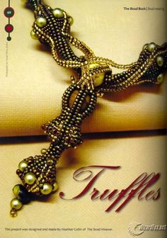 Twisted Herringbone Necklace with Pearls.Tutorial is on site.