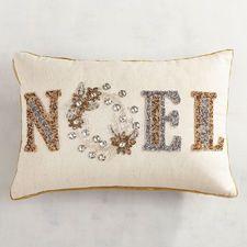 Beaded Noel μαξιλάρι