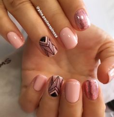 Chic Nails, Classy Nails, Stylish Nails, Trendy Nails, Hair And Nails, My Nails, Fall Nails, Tribal Nails, Striped Nails