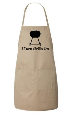 I Turn Grills On Men's Apron Funny Father's Day by meandmy3boys, $22.50