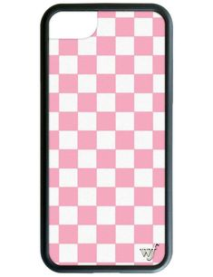 Pink Checkers iPhone Case - iPhone 6, 7, 8 Plus