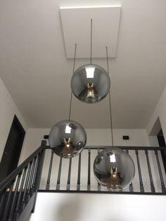 Stair Lighting, Suspended Lighting, Interior Lighting, Modern Lighting, Kitchen Island Lighting, Dining Room Lighting, Home Decor Lights, Modern Stairs, Interior Design Living Room