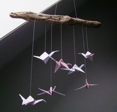DIY kraanvogel mobile #origami