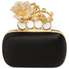ALEXANDER MCQUEEN|Bags|Floral Short Knuckle Box Clutch. They design the best clutches
