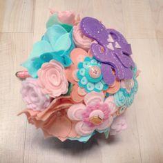 Felt bouquet with felt octopus