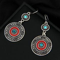 Item Type: Earrings Material: Zinc Alloy Length: cm Pendant Size: x cm Weight: 10 g Style: Drop Earrings Features: Women's Jewelry, Earrings, Drop Earrings, Vintage Earrings, Fashion Earrings Sterling Silver Hoops, Silver Hoop Earrings, Vintage Earrings, Women's Earrings, Turquoise Earrings, Trendy Jewelry, Boho Jewelry, Minimalist Earrings, Fashion Earrings