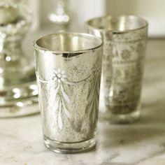 Mercury  Glass Tea Light Holders ,3<3
