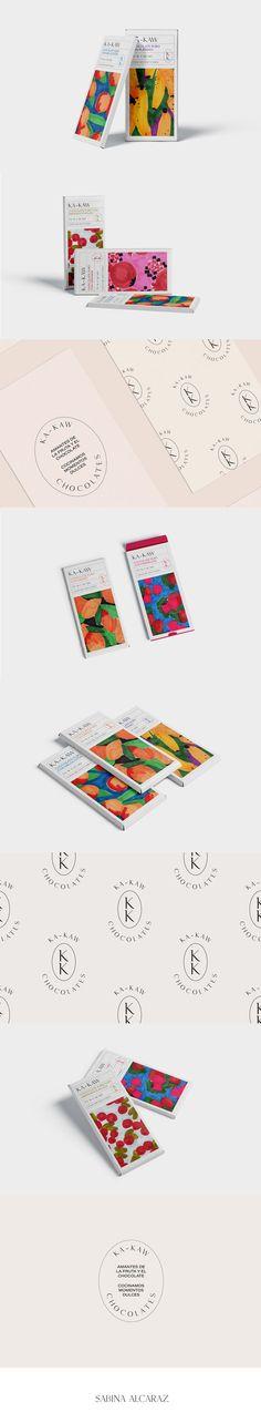 IDENTIDAD VISUAL + DISEÑO DE ENVASES KA-KAW es un proyecto de diseño experimental que une el diseño de marca con el diseño de envases. El resultado es un packaging alegre y divertido que da forma a una línea de chocolates de diferentes sabores.