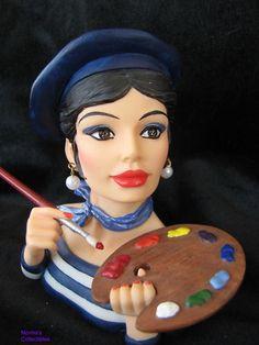 "Lady Head Vase - ""French Impressions"" mini"