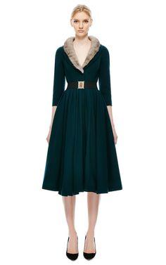 Fur Collar Coat by Natasha Zinko for Preorder on Moda Operandi