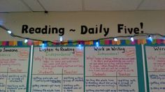 Daily Five Success Criteria Anchor Charts