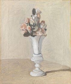 Giorgio Morandi, Fiori, 1951, Oil on canvas, 43,4 x 37,3 cm, Firenze, Fondazione di Studi di Storia dell'Arte Roberto Longh