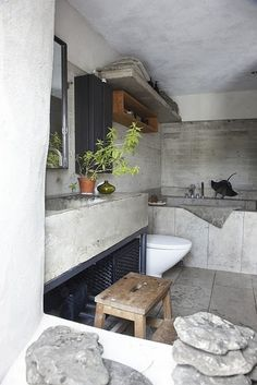 loving cement interiors with all my heart at the moment.