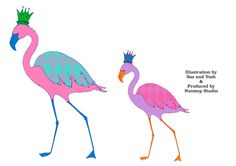 Unique & Fun Wall stickers of lovely Flamingos・Digitally printed onto clear vinyl・Size x & small flamingo x (Set of 2 stickers)・Designed by Sas and Yosh & Printed in the Nutmeg Wall Art studio UK・Shipping worldwide from the UK. Wall Decor, Wall Art, Sticker Design, Wall Stickers, Flamingo, Paradise, Fun, Prints, Wall Hanging Decor