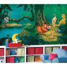 New XL LION KING WALL MURAL Disney Wallpaper Decor Lions Bedroom Decorations