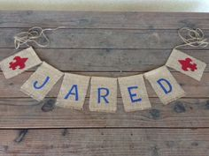 Eagle Scout Burlap Banners by WoahBabyCrafts on Etsy Eagle Scout Ceremony, Boy Scouts, 50th Anniversary, Eagles, Burlap Banners, Sash, Unique Jewelry, Handmade Gifts, Crafts