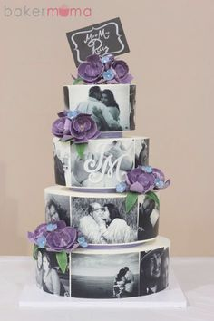 Picture of wedding cakes: designs and decoration! : Picture Of Wedding Picture of wedding cakes: designs and decoration! Build your own wedding,Wedding cake decorating,Wedding cake designs Amazing Wedding Cakes, Unique Wedding Cakes, Unique Cakes, Unique Weddings, Cake Wedding, Wedding Cupcakes, Amazing Cakes, Different Wedding Cakes, Purple Wedding Cakes