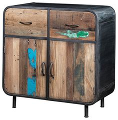Artemano 36 by 36 by 18-Inch Sideboard, Small, Recycled Wood