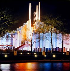 Tower of Lights designed by TC Howard of Synergetics, Inc for the 1964 NY World's Fair