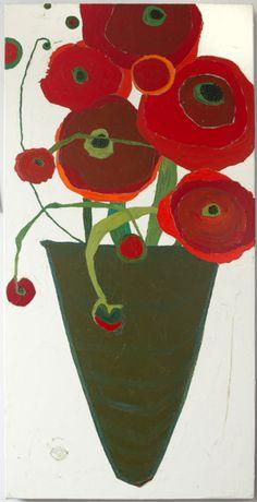 "Tall Poppies  Artist: Karen Tusinski  dim: 48"" x 24"""