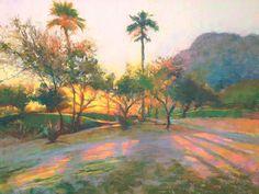 Julie Skoda, Aviara Sunset, pastel, 16 x 20.
