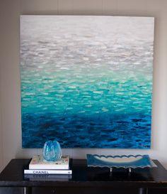 "Original Abstract Art by Kellie Morley - ""Seaside"". love the texture BTW... visit: http://artcaffeine.imobileappsys.com/"