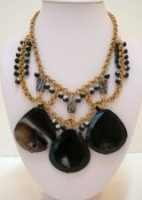 Marble Agate Statement Necklace