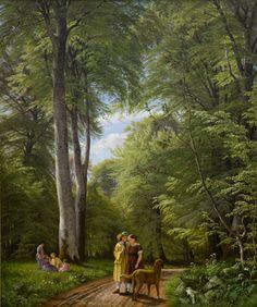"""Peter Christian Skovgaard (1817-75), """"Bøgeskov i maj. Motiv fra Iselingen"""", 1857.  Statens Museum for Kunst / National Gallery of Denmark. http://www.smk.dk/index.php?id=2330"""