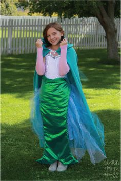DIY Mermaid Costume Tutorial for girls by @733blog