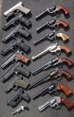 Glock 17, Beretta FS92/ M9, Colt 1911, Walther P99, Colt peace maker. #gun #guns #rifle #m4 #ar15 #229 #rounds #clip #bolt #laser #scope #carbine #guns #gun #handguns #rifles #bullets #hunting #gunsandhunting