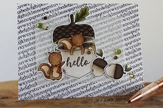 Brand new STAMPtember® feature | Neat & Tangled, Nuts about you!