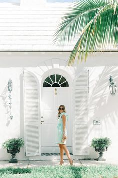 Beth from Palm Beach Lately in the Camilyn Beth 'Go Go' Dress in Mint.