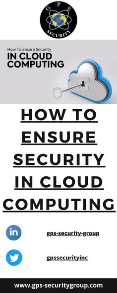 How do you ensure cloud security? How do you ensure data security and privacy in cloud computing? Cloud Data, Security Companies, Cloud Computing, Clouds, Cloud