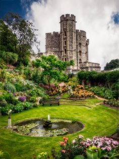 The Queen's Garden - Windsor Castle, England