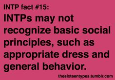 Introverted Intuitive Thinking Perceiving Personality Type MBTI    Do you have a problem with my Star Wars shirt, fedora, plaid jacket and striped pants?