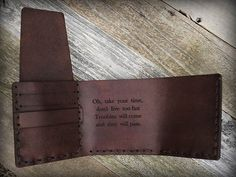 This wallet quality handmade from sturdy and durable full grain vegetable tanned leather made carefully, reliably, with love! Very easy to use and at the same time fashionable and elegant.  Each step are made by hand: the leather was cut, dyed, assembled and stitched with the utmost attention to details.  The stitching is done handmade, using very sturdy waxed cotton thread. ===================================================================  The wallet four pockets, you can use at their…