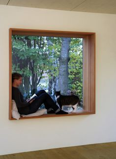 Stunning Window Seat Ideas – Living - New ideas Window Bars, Bay Window, Porch Interior, Interior Design Living Room, Large Windows, Windows And Doors, House Cladding, Attic Rooms, Home Upgrades